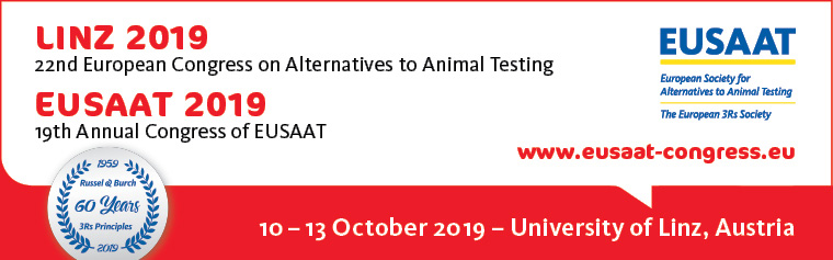 22nd European Congress on Alternatives to Animal Testing, August 25-28 2019, University of Linz, Austria